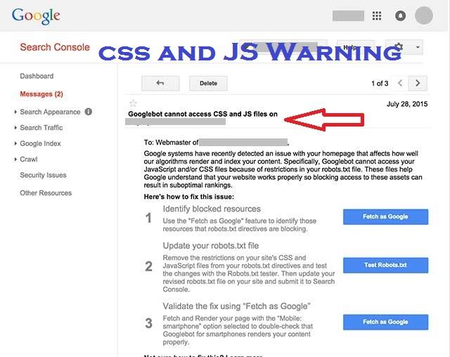 Googlebot Cannot Access CSS & JS