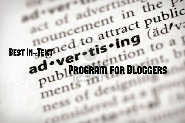 InText Advertising for Bloggers