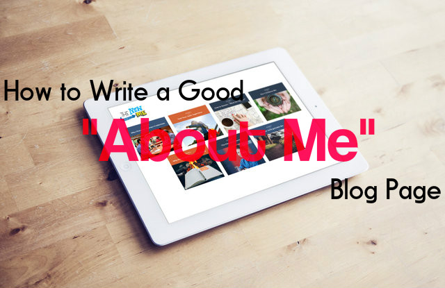 About Me Blog Page