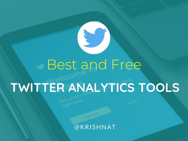 Twitter Analytics Tools