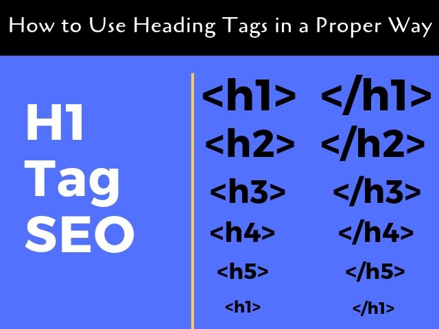 H1 Tags SEO Headings