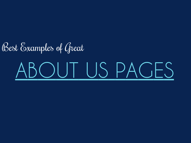 best about us pages