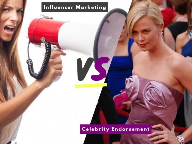 Influencer Marketing vs Celebrity Endorsement