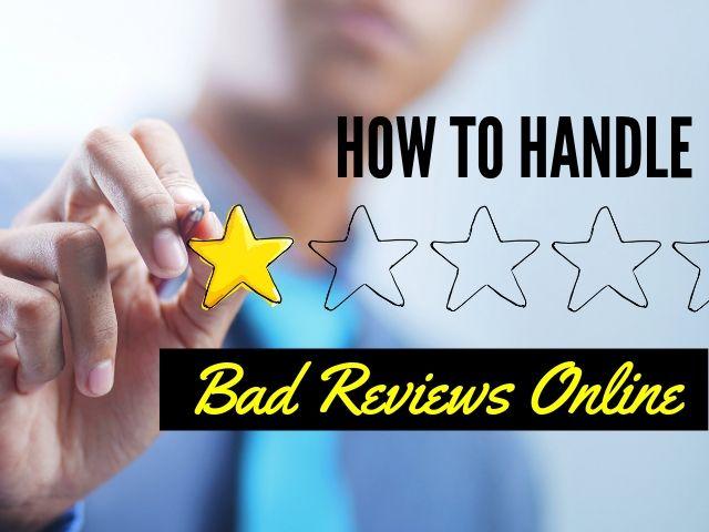 Negative or Bad Reviews