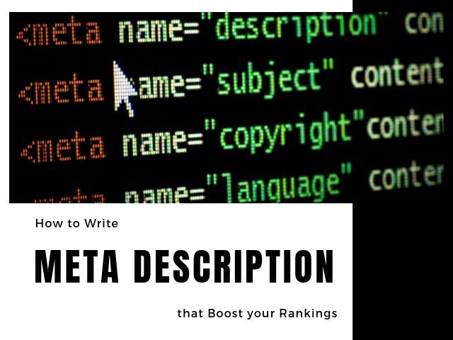 How to Write Meta Description